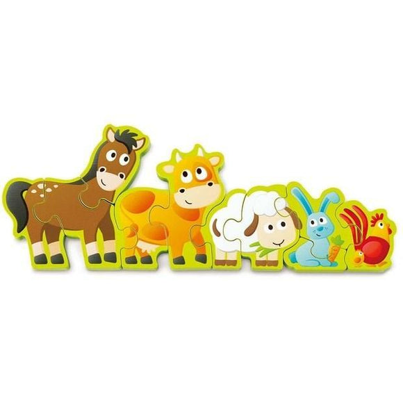 Hape Numbers & Farm Animals Puzzle