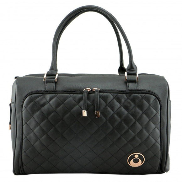 Double Zip Satchel - Ebony