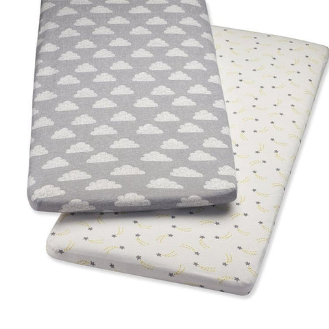 Snuzpod bassinet fitted sheets and blanket