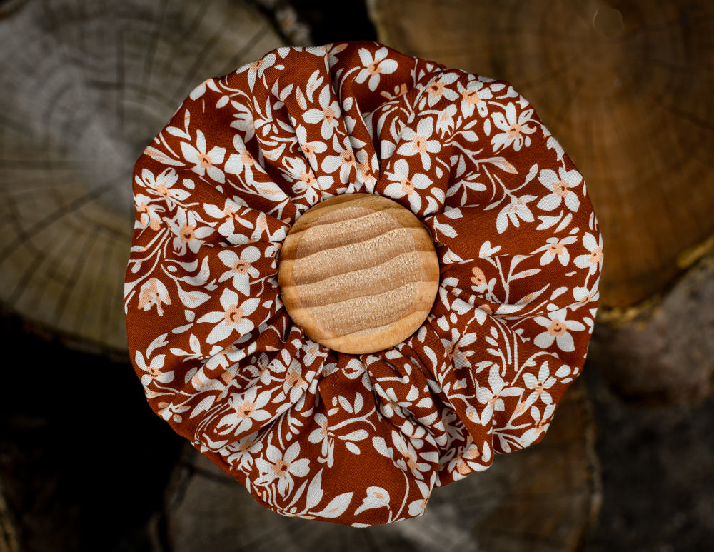 Autumn Rust Scrunchie