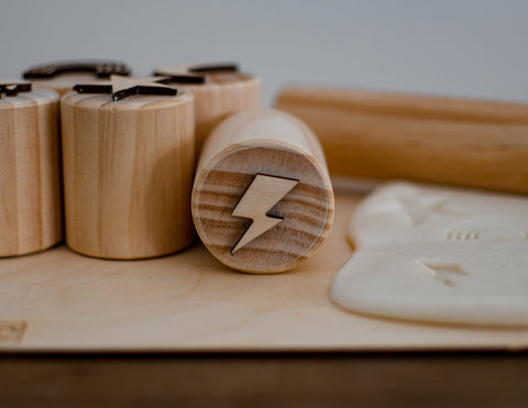 Modelling Dough Stamps - Lightning Bolt