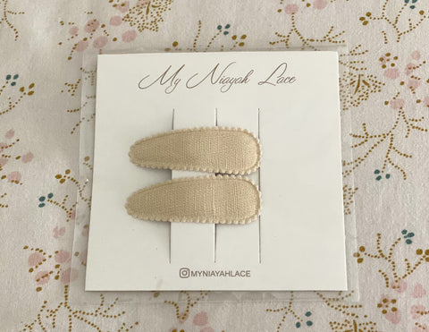 Fabric Clips - Tan Linen