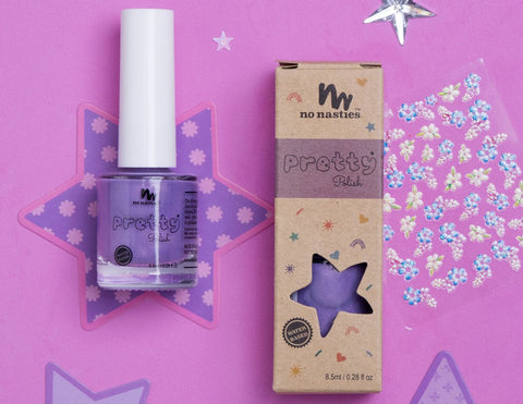 Purple Water-Based Nail Polish for Kids
