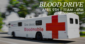 April 9th: Blood Drive at The Market