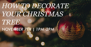 NOVEMBER 7th @ 1PM-2PM: How to Decorate your Christmas Tree by Lynne with Fortnight
