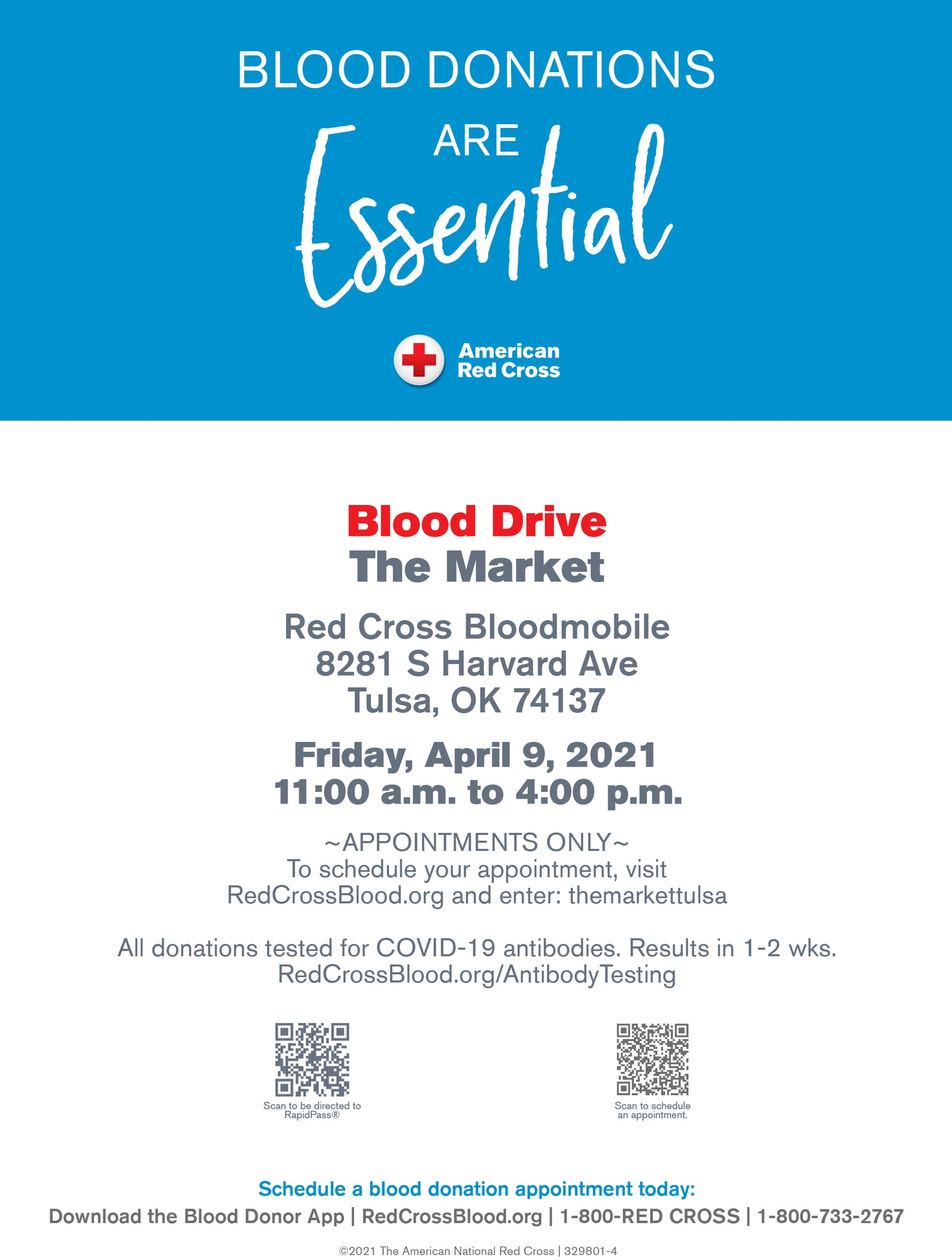 blood drive at The Market