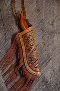Wandering Elk Neck Knife and sheath