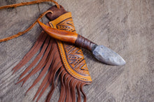 Load image into Gallery viewer, Wandering Elk Neck Knife and sheath