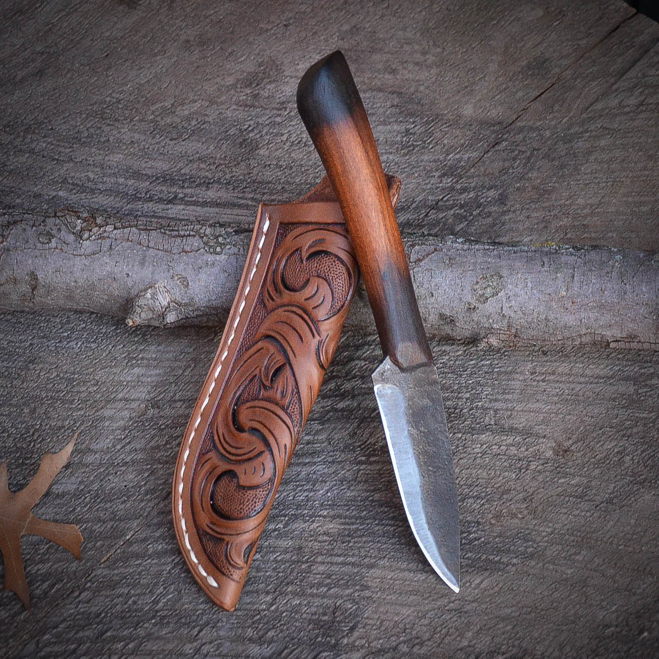 Smoky Hill Hunter - Hand Forged Knife, Custom handmade knife, Bushcraft knife, USA