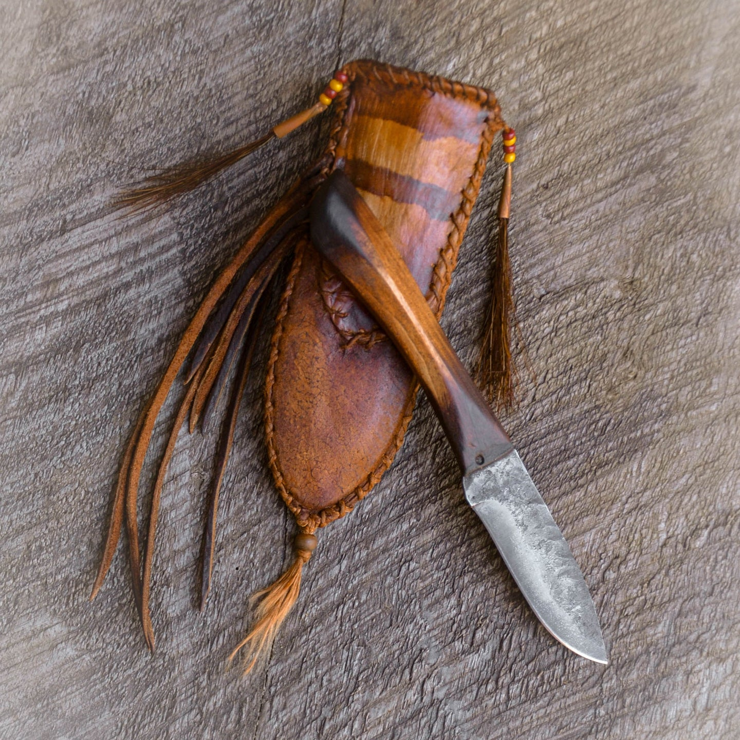 Mountain Man Frontier knife, Bushcraft Knife, Old west knife