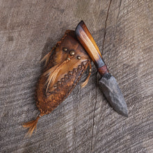 Load image into Gallery viewer, Handmade Mountain man knife, Frontier Sheath, Bushcraft knife, Made in the USA
