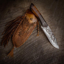 Load image into Gallery viewer, Forged Mountain Man Knife, Frontier knife and sheath, Made in the USA