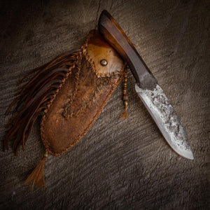 Forged Mountain Man Knife, Frontier knife and sheath, Made in the USA