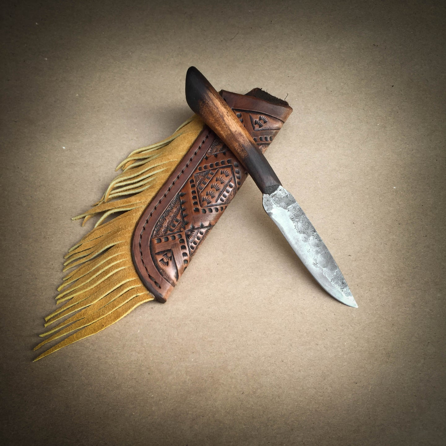 Tall Grass Hunter Custom Hand Forged Knife