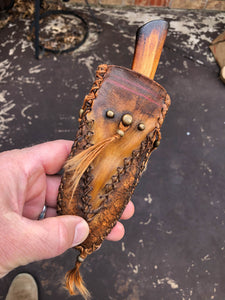 Handmade Mountain man knife, Frontier Sheath, Bushcraft knife, Made in the USA