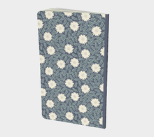 Load image into Gallery viewer, Blue Small Notebook with Creme Wild Flowers - Sir Walter Raleigh