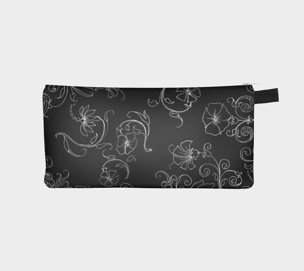 Black and White Decorative Wild Flowers Pencil Case -  William W. Martin