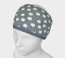 Load image into Gallery viewer, Blue Headband with Creme Wild Flowers - Sir Walter Raleigh