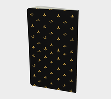 Load image into Gallery viewer, Delicate Flower Gold and Black Small Notebook - Henry Vaughn