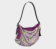Load image into Gallery viewer, White Square Origami Tote Bag with Purple Flowers - Geoffrey Chaucer