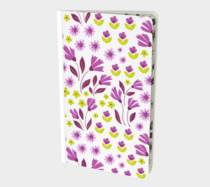 White Small Notebook with Purple Flowers - Geoffrey Chaucer