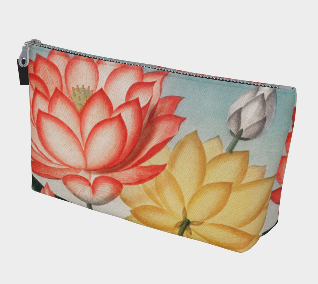 Red and Yellow Lotus Flower Makeup Bag - Kahlil Gibran