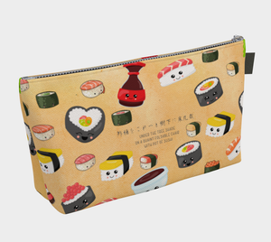 Cute and Happy Sushi Makeup Bag - Yosa Buson