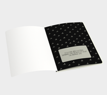 Load image into Gallery viewer, Delicate Flower Gold and Black Large Notebook - Henry Vaughn