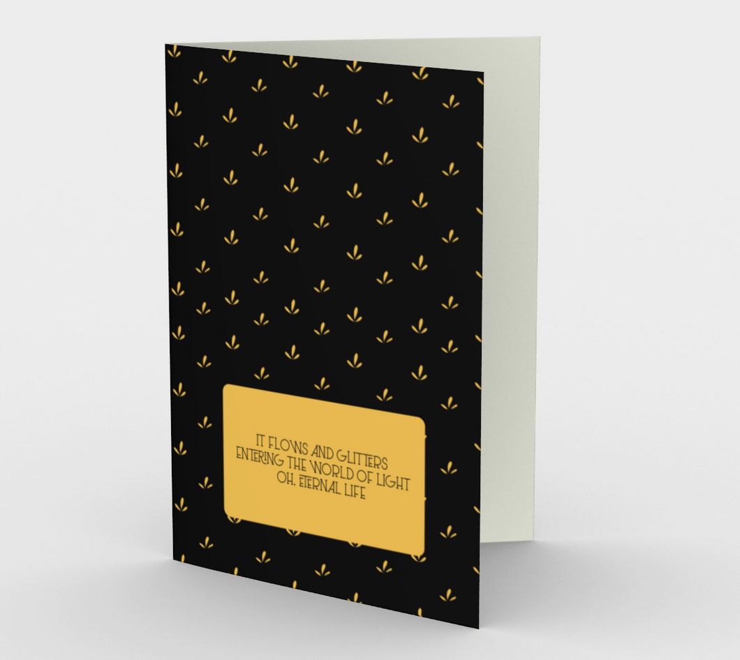 Delicate Flower Gold and Black Stationary Card - Henry Vaughn