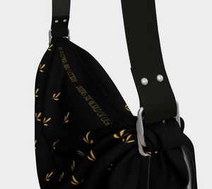 Delicate Flower Gold and Black Origami Tote Bag - Henry Vaughn