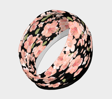 Load image into Gallery viewer, Cherry Blossom Pattern Black Headband - Matsuo Basho
