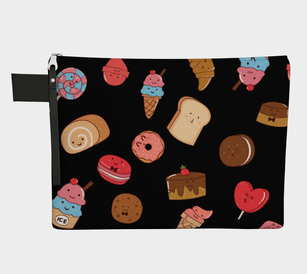 Cute Candy and Sweets Zipper Carry-all Pouch- Frank D. Sherman