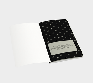 Delicate Flower Gold and Black Small Notebook - Henry Vaughn