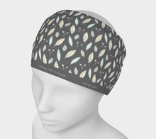 Load image into Gallery viewer, Gray Headband with Twigs and Small Flowers  -  Anonymous