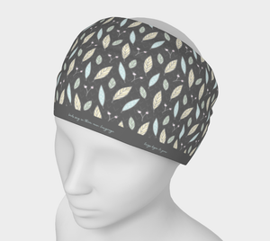 Gray Headband with Twigs and Small Flowers  -  Anonymous