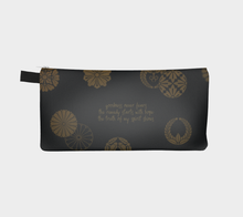 Load image into Gallery viewer, Black and Gold Vintage Japanese Pattern Pencil Case - William Shakespeare
