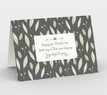 Load image into Gallery viewer, Gray Stationary Cards with Twigs and Small Flowers  -  Anonymous
