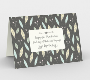 Gray Stationary Cards with Twigs and Small Flowers  -  Anonymous