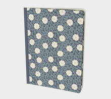 Load image into Gallery viewer, Blue Large Notebook with Creme Wild Flowers - Sir Walter Raleigh