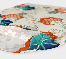 Load image into Gallery viewer, White Vintage Floral Pattern Headband - Matsuo Bashou