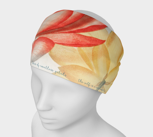 Red and Yellow Lotus Flower Headband - Kahlil Gibran