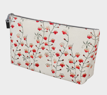Load image into Gallery viewer, White Vintage Floral Pattern Makeup Bag - Kobayashi Issa