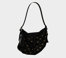 Load image into Gallery viewer, Delicate Flower Gold and Black Origami Tote Bag - Henry Vaughn