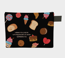 Load image into Gallery viewer, Cute Candy and Sweets Zipper Carry-all Pouch- Frank D. Sherman