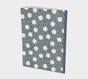Blue Large Notebook with Creme Wild Flowers - Sir Walter Raleigh