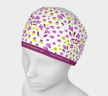 Load image into Gallery viewer, White Headband with Purple Flowers - Geoffrey Chaucer