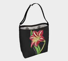 Load image into Gallery viewer, Dark Gray Tote Bag with Vintage Lily Illustration  - W.S. Gilbert