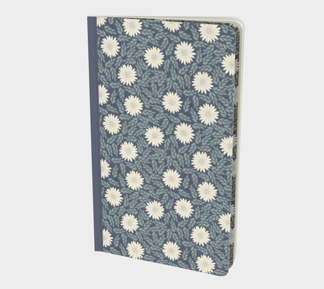 Blue Small Notebook with Creme Wild Flowers - Sir Walter Raleigh