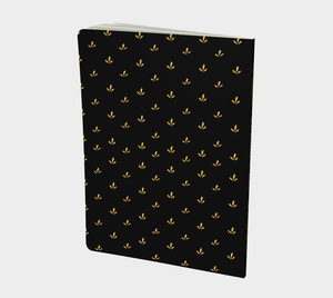 Delicate Flower Gold and Black Large Notebook - Henry Vaughn