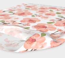 Load image into Gallery viewer, Cherry Blossom Pattern White Headband - Matsuo Basho